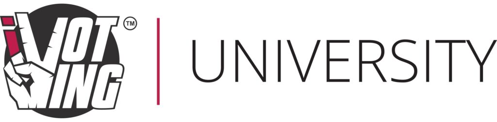 ivoting university logo